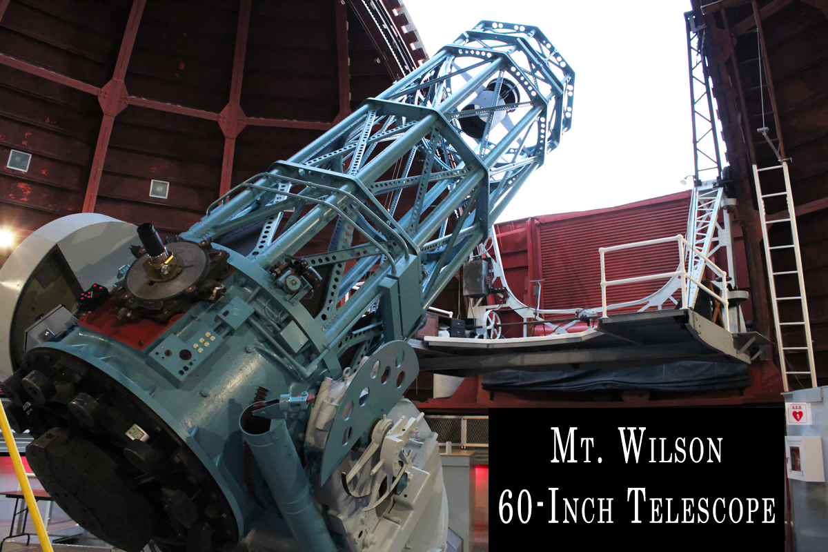 The Mt. Wilson 60-inch design is a bent-Cassegrain reflector with a 60-inch diameter primary mirror