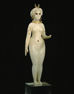 Inanna naked (ancient alabaster statue)