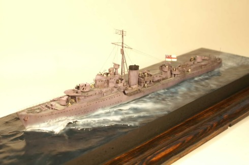 A Model of the HMS Kelly built by Ian Ruscoe