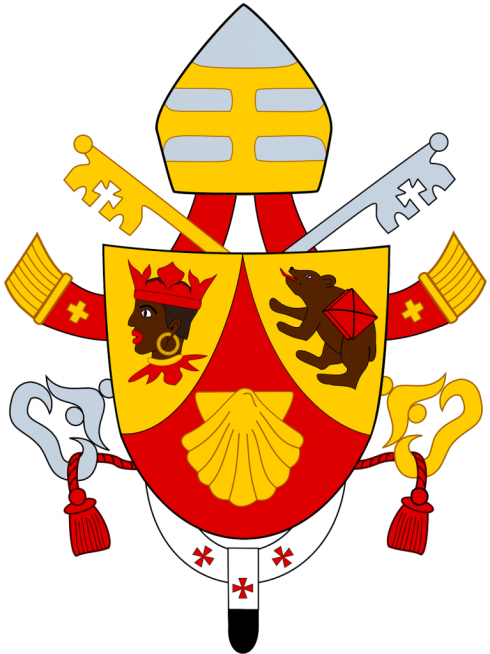 The coat of arms of Pope Benedict XVI
