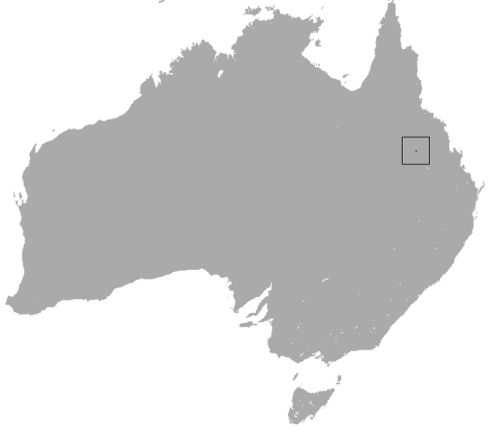 Range of the Northern Hairy-Nosed Wombat (exaggerated to be visible)