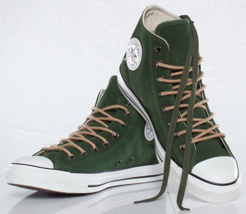 "Converse All Star Suede shoes in ""Kombu Green"""