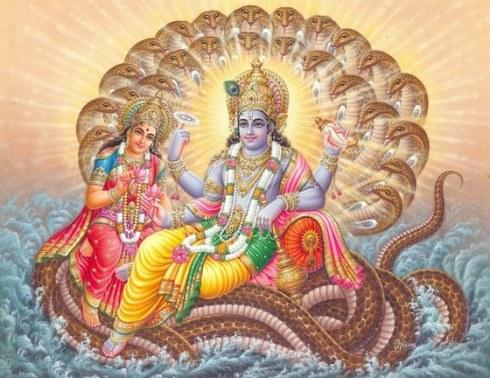 Vishnu in glory