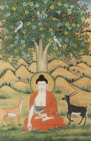 Siddhārtha Gautama beneath the Bodhi Tree