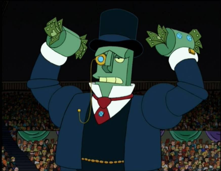 Billionairebot from Futurama