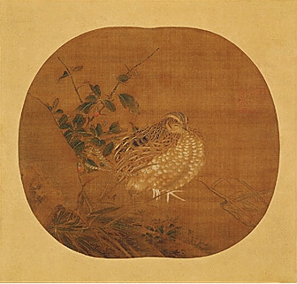 Quail (attributed to Li An-Zhong, ca. Southern Song Dynasty, ink and watercolor on scroll) 12th–13th century