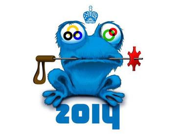 Zoich, the counter culture mascot of the 2014 Olympics