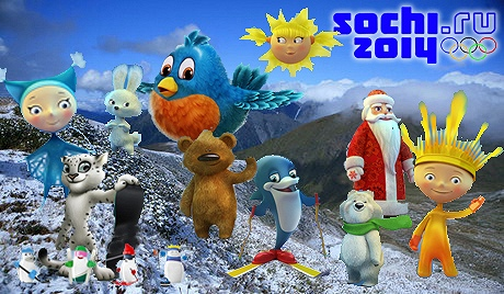 The shortlist of 2014 Olympic mascot candidates