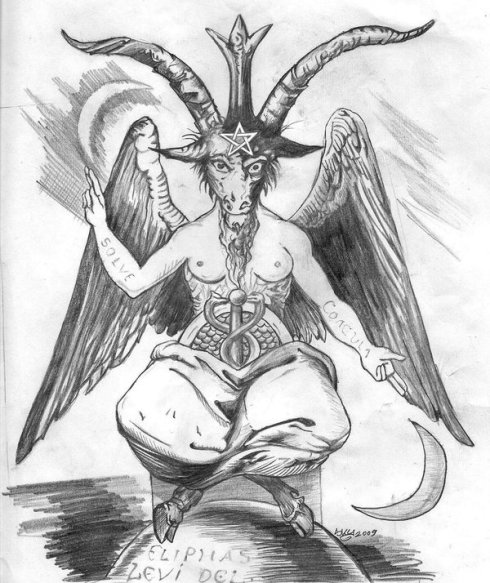 Baphomet as imagined by Victorian Occultists