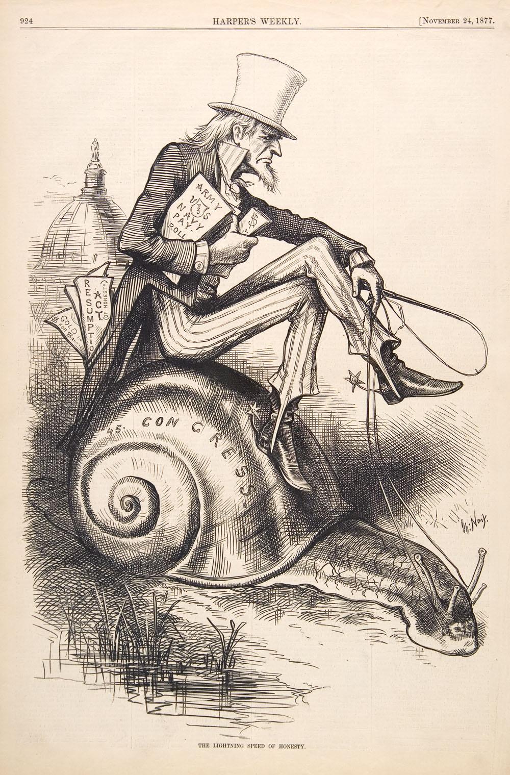 Uncle Sam (Thomas Nast, 1877, engraving)