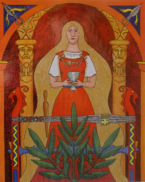 The Goddess Sif with a Rowan Bough and a Beer