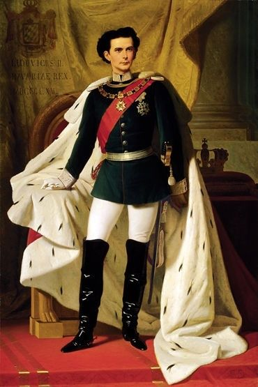 Coronation Portrait of Ludwig II (Ferdinand von Piloty, 1865, oil on canvas)