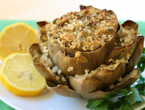 stuffed artichoke from eat-spin-run-repeat.com