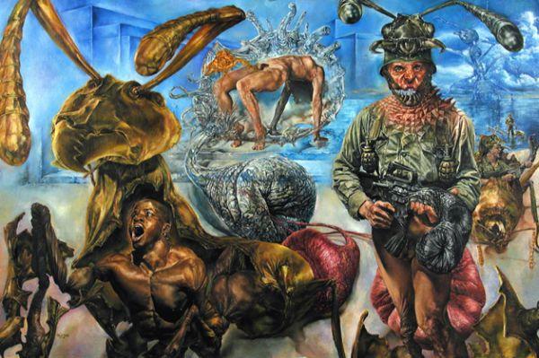 Myrmidons  (Tristan Schane, oil on illustration board)