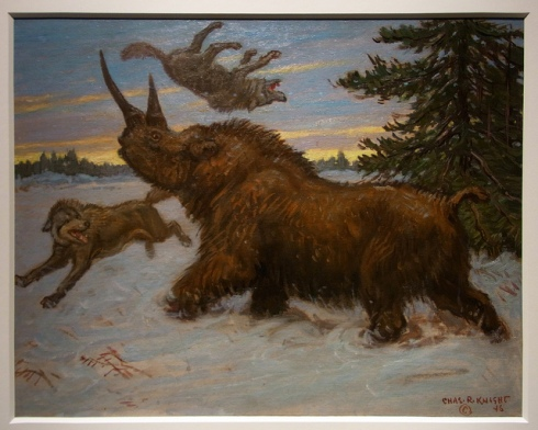 Wooly Rhinoceros by Charles Knight (Los Angeles Natural History Museum)