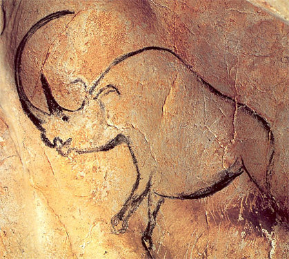 Wooly Rhinoceros from Chauvet Cave (ca. 30,000-32,000 years ago)