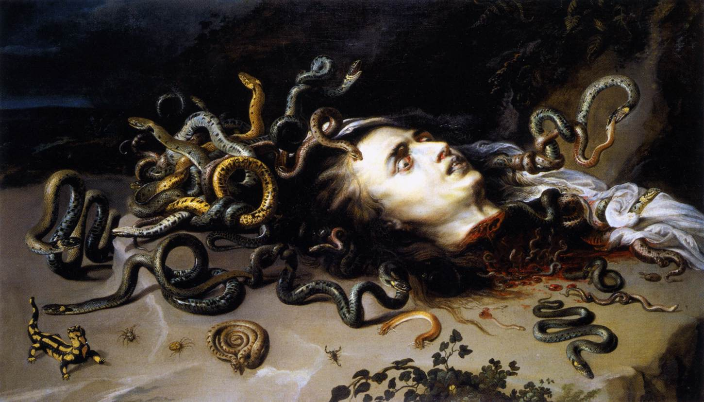 The Head of Medusa (Peter Paul Rubens, ca. 1617-1618, oil on canvas)