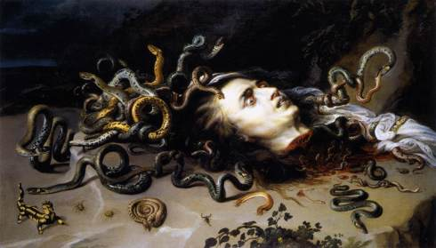 The Head of Medusa (Peter Paul Rubens, ca. 1617-1618, oil on canvas)