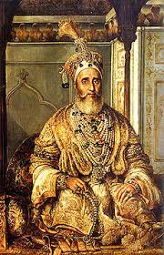 Bahadur Shah II (August Schoefft, ca. 1854, oil on canvas)