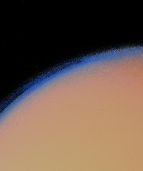 The Atmosphere of Titan (imaged by Voyager I)