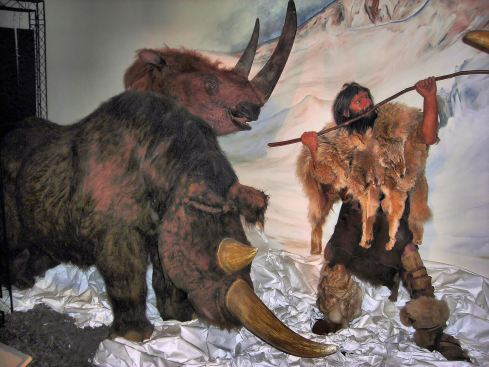 Woolly Rhinoceros Hunt (diorama from Horniman Museum, London)