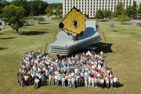 A Full Scale Model of the James Webb Space Telescope