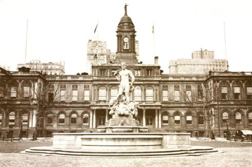 The Triumph of Civic Virtue (In front of City Hall in1923)