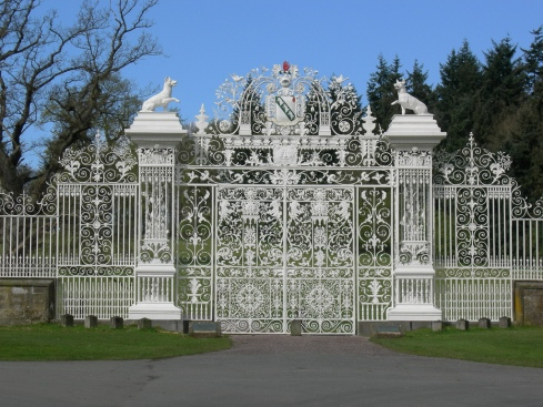 Gate to Chirk Castle, Wales
