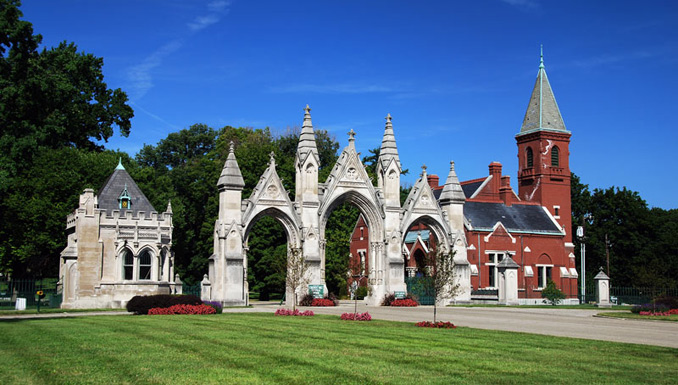 Crown Hill Cemetery Gate