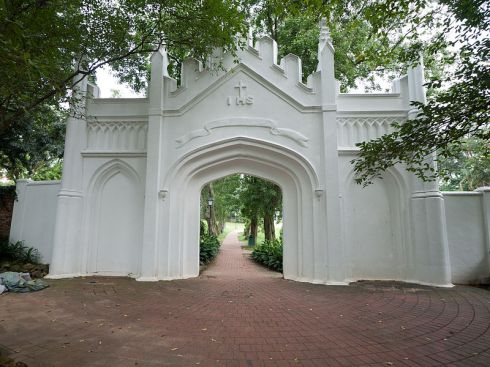 Gate to Fort Canning Green, Singapore