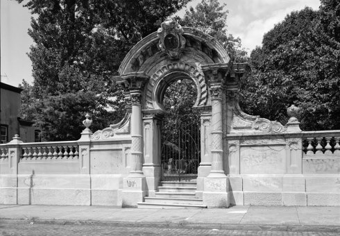 Gate to Hood Cemetery, Philadelphia