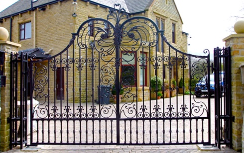 A rich person's iron gate