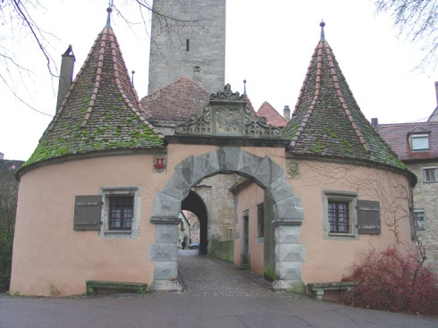 Gate to Walled City of Rothenburg