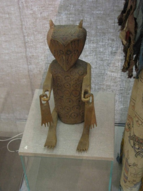 """The figure of a shaman's bear ally, paws outstretched, ready to assist in healing. It comes from the Nanai people and was collected in the Khabarovsk region in 1927. The ""healing hands"" of this bear were held to be especially helpful in treating joint problems."" (from http://arctolatry.tumblr.com)"