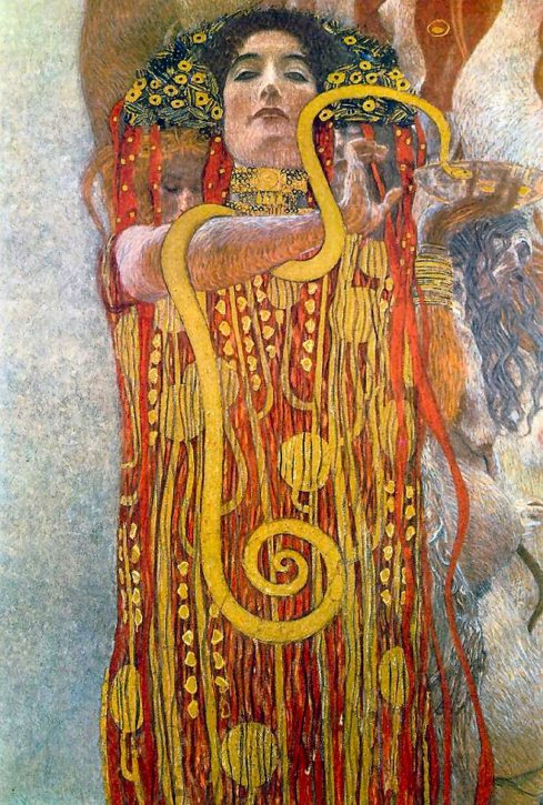 "Detail from ""Medicine"" (Gustav Klimt, 1901)"