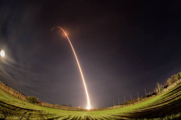 The Minotaur I rocket launches from Wallops on November 19, 2013