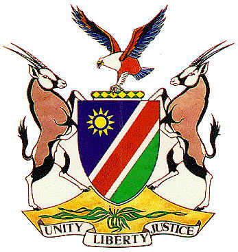 The coat of arms of Namibia features one at the bottom