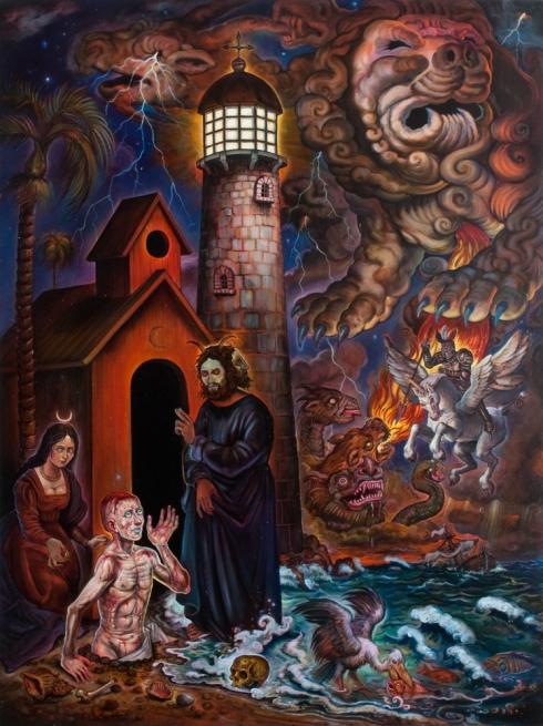 Resurrection (Christopher Ulrich, circa 2005 to 2011, oil on canvas)