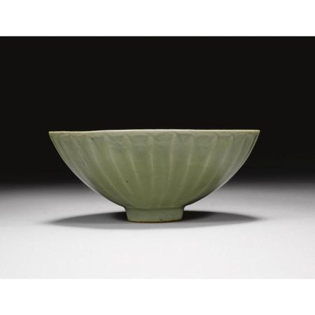 A 'longquan' celadon 'lotus' bowl. Song dynasty. photo Sotheby's