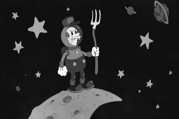 The Moon Farmer from Futurama