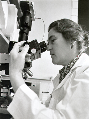 Dr. Janet Rowley in the lab