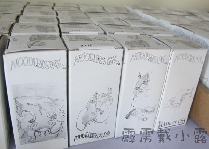 Various boxes of Noodler's Black Ink