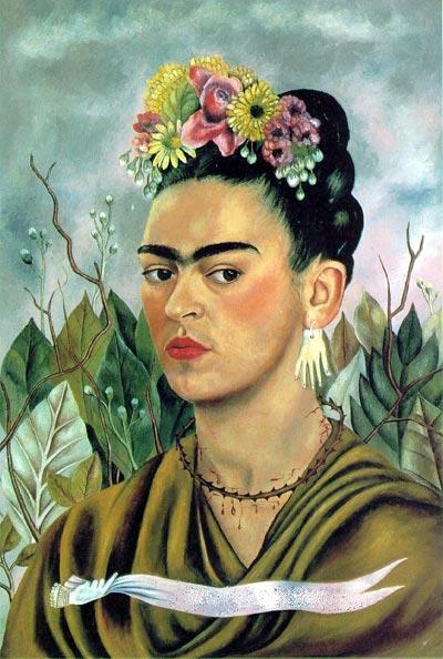 Self-Portrait Dedicated to Dr. Eloesser (Frida Kahlo,1940)