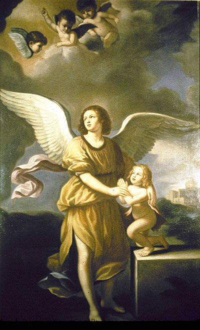 The Guardian Angel (Guercino, oil on canvas)