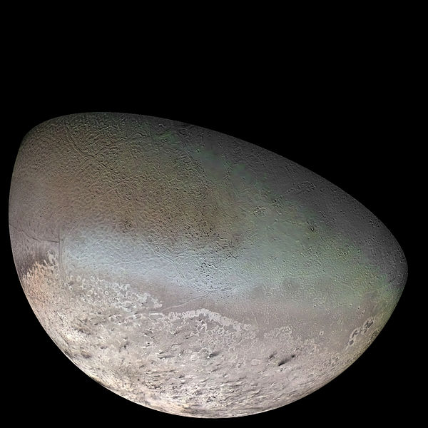 Neptune's Moon Triton photographed by Voyager 2 (NASA)
