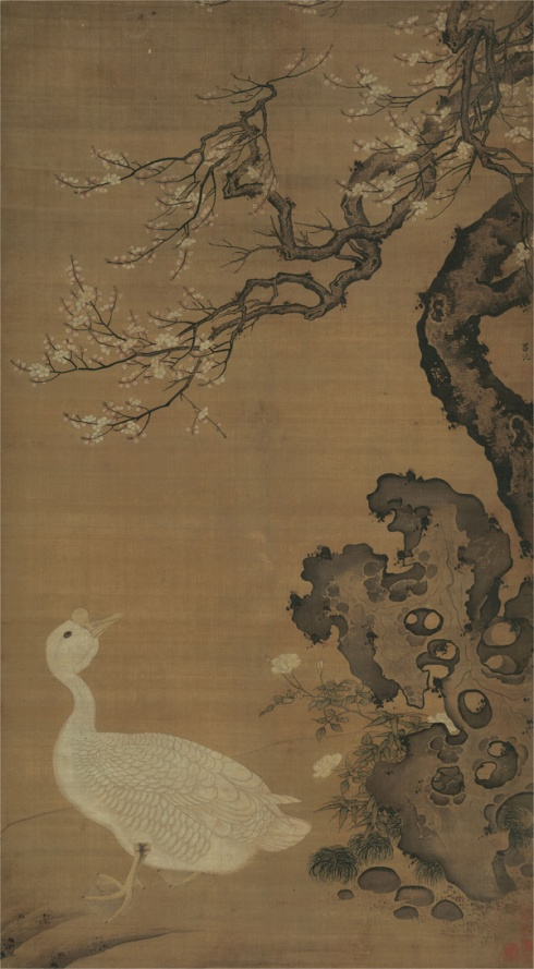 Lion-Head Goose (Lü Ji, ca. 1488-1505, ink on scroll)