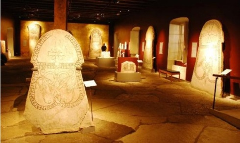 """The """"Hall of Picture Stones"""" at the Gotland Museum in Visby"""