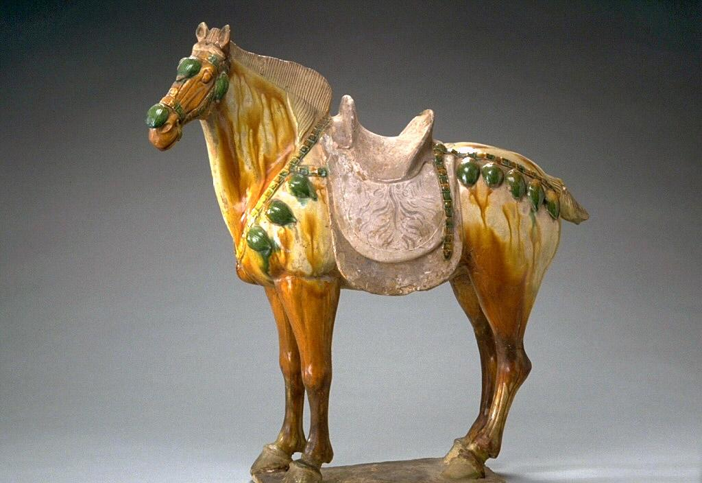 A Cermaic Horse from the Tang dynasty (618 AD-907 AD)