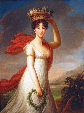 Flora ( Marie Elizabeth Louise Vigee-Le Brun,1799, Oil on Canvas)