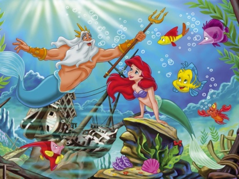 """Triton and Ariel (from """"The Little Mermaid"""")"""